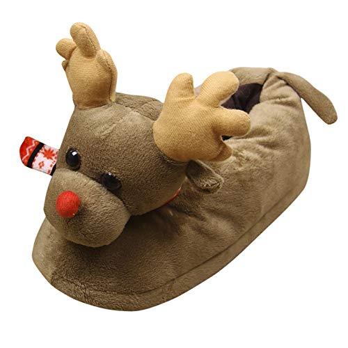Yellow wang Unisex Plüsch Baumwolle Hausschuhe Winter Warme Indoor Weihnachtsschuhe Schuhe