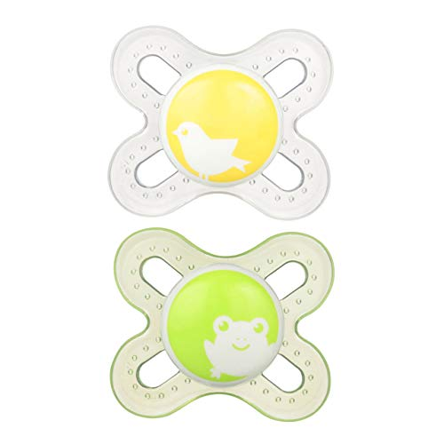 MAM Pacifiers, Newborn Pacifier, Best Pacifier for Breastfed Babies, 'Start' Design Collection, Unisex, 2-Count