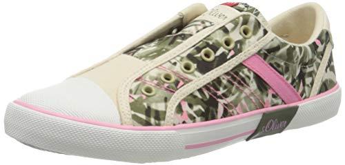 s.Oliver Damen 5-5-54200-24 Slip On Sneaker, Mehrfarbig (Flower Comb 555), 39 EU