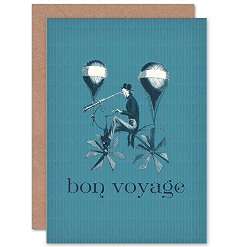 Wee Blue Coo Card Greeting Bon Voyage MAD Flying Machine Gift