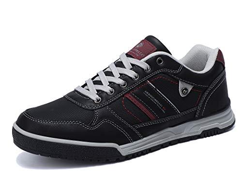 ARRIGO BELLO Freizeitschuhe Herren Sneaker Walkingschuhe Herrenschuhe Berufsschuhe Laufschuhe Atmungsaktiv Leichte Größe 41-46(DK Schwarz, Numeric_43)