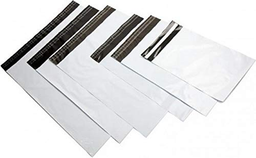 logei® 100St Plastik Versandtaschen Versandtüten Folienversandtaschen Versandbeutel Warenbeutel aus Plastik für Kleidung und Textilien selbstklebend , undurchsichtig, 25cm x 35cm