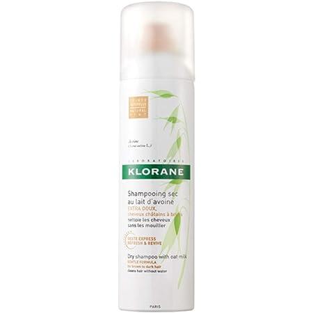 Klorane Shampoo Secco al Latte d'Avena per Capelli Scuri, 150 ml