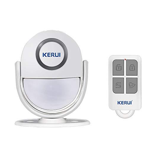 Mini Sensor de Movimiento inal Mbrico Kerui con Control Remoto,Mando a Distancia,para Seguridad en Tiendas o Casas, Color Blanco