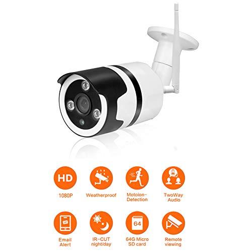 QinLL IP-beveiligingscamera 1080P, buitenbewakingscamera, met waterdichte IP66, infrarood nachtzicht, bewegingssensor, ondersteuning 64 GB TF-kaart, bb