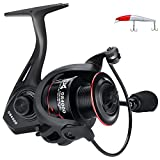 HENCETO Fishing Reels - New Spinning Reel - Light Weight, Super Smooth Powerful Reel, 12+1 BB Stainless Steel Ball Bearings for Saltwater or Freshwater, 5.0:1 Gear Ratio, Come with Crank bait (GS3000)