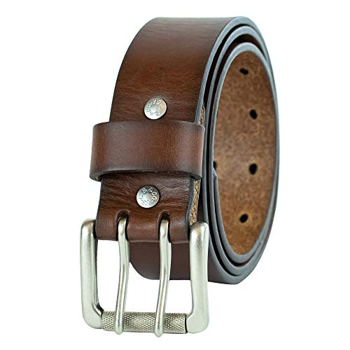 Levi's Men's 1 1/2 in.Bridle Double Prong Buckle Belt,Brown,34