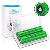 3,7V LG-MJ1 Wiederaufladbarer Batterie 3500mAh Keenstone 3,7V Li-Ionen Button Top Akku für LED-Taschenlampe Mikrofon-[2 Stücke ][Nicht für E-Zigaretten]