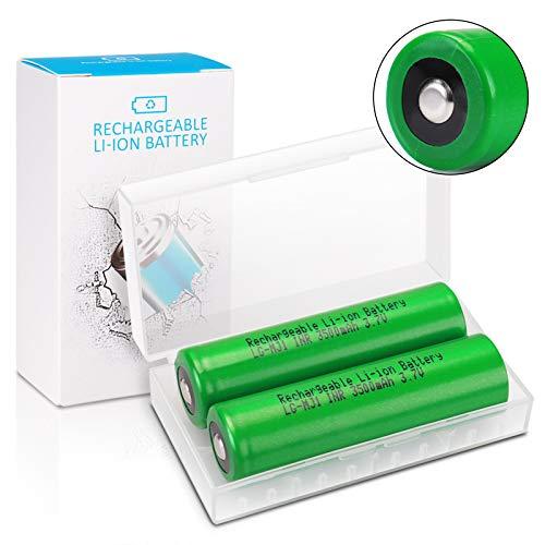 3,7V LG-MJ1 Wiederaufladbarer Batterie Taschenlampe Akku 3500mAh Keenstone 3,7V Li-Ionen Button Top Akku für LED-Taschenlampen Mikrofon-[2 Stücke ]