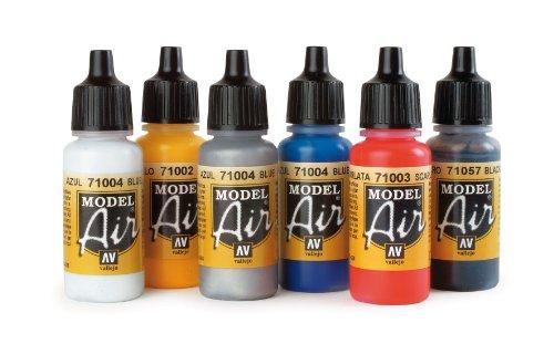 Herpa 371131 - Airbrush Farben, 6 Stück