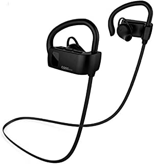 AUKEY Bluetooth Headphones, Wireless Semi In-Ear Headset with Built-in Microphone, 5Hours Playtime, Sweatproof