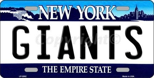 Anwei Giants New York State Background Novelty Metal License Plate LP-2052