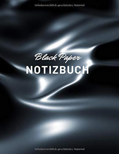 BLACK PAPER NOTIZBUCH: 100 schwarze Punktraster-Seiten, Dot Grid, perfekt für Gelschreiber, punkteraster block a4, notizbuch dotted, schwarze seiten buch, notizblock punktiert