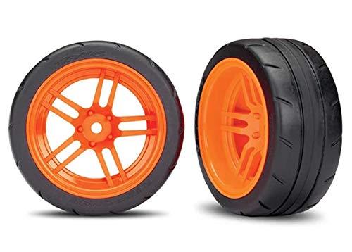 Traxxas - 2 Neumáticos + Llantas Traxxas Naranja 1,9 -TRX 8374A