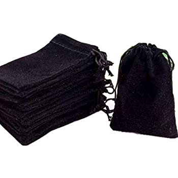 GYBest Best 50 Pack 3  X 4  Wholesale Promotion - Black Velvet Cloth Jewelry Pouches / Drawstring Bags