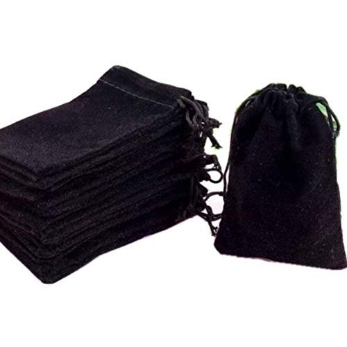 """GYBest Best 50 Pack 3"""" X 4"""" Wholesale Promotion - Black Velvet Cloth Jewelry Pouches / Drawstring Bags"""