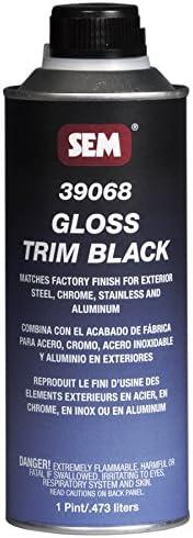 Brand Cheap Sale Venue SEAL limited product SEM 39068 Black Gloss Trim 1 Pint Coating - Acrylic