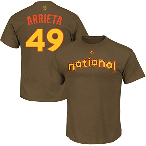 ca129b245 Jake Arrieta Chicago Cubs Majestic 2016 MLB All-Star Game Name   Number  Men s T