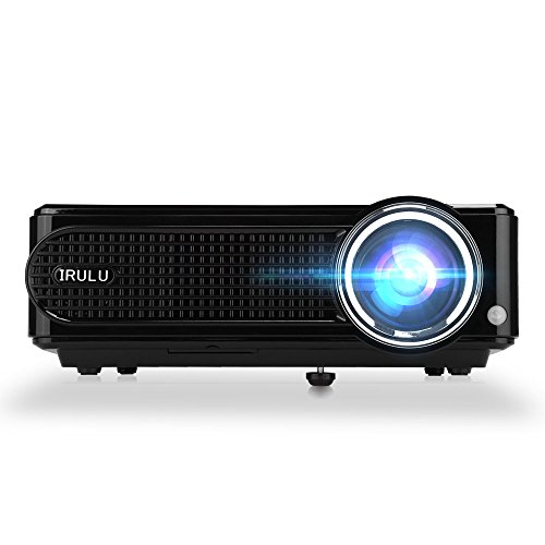 IRULU LED Projector 2800 Lumen HD Projector Resolution 800 480 TV/AV/VGA/USB 2 / HDMI 2 / Y.Pb.Pr Compatible - Black
