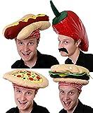 I LOVE FANCY DRESS LTD Hamburger Cappello Fantasia Abito Accessorio Cappello NOVELLINI da ASPORTO Costume di Cibo Spazzatura