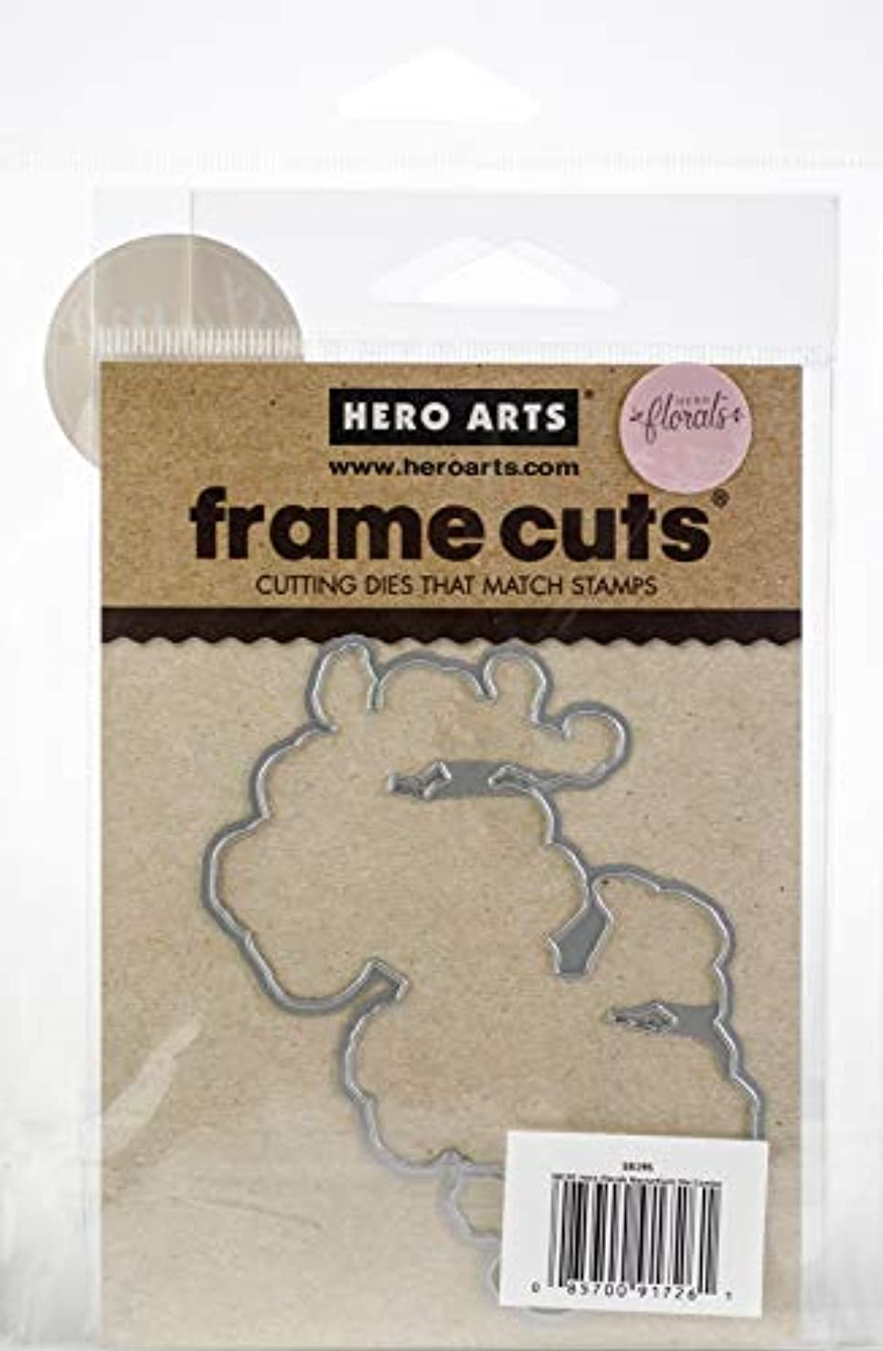 Hero Arts Clear Stamps and Frame Cuts Die Combo, Hero Florals Mum Stem
