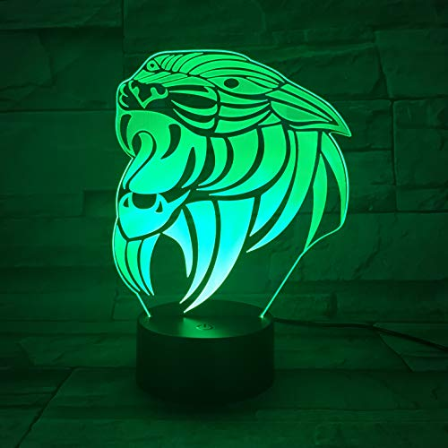 Tiger Amazing 3D LED Night Light Table Lamp Bedside Decoration Kids Gift