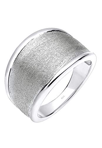Elli Ring Damen Basic Matt Trend in 925 Sterling Silber