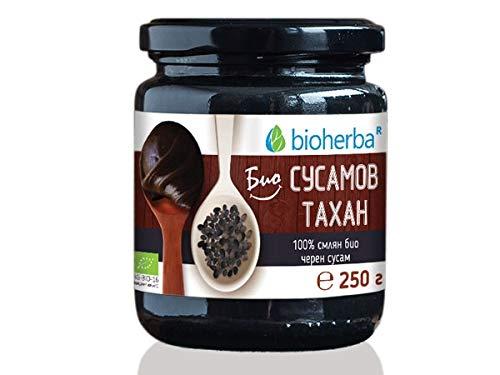 Bioherba Bio Sesam-Tahini 100 % Gemahlener Bio Schwarz-Sesam, 250g