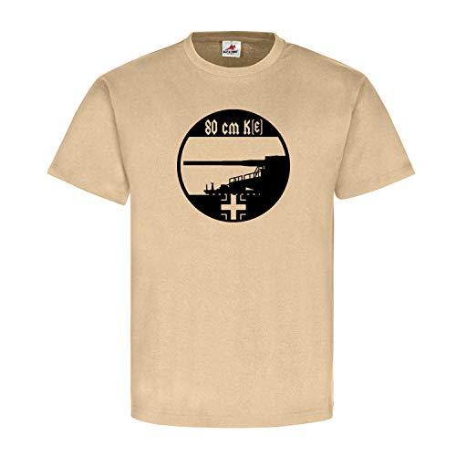 Eisenbahngeschütz Gustav 80cm Kanone Dora Sondergeschütz Eisenbahnkanone - T Shirt #4982, Größe:XXL, Farbe:Sand