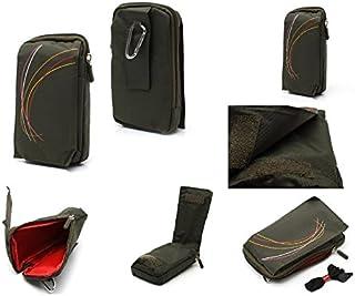 DFV mobile - Funda Multiusos con Varios Compartimentos para Cinturon y Mosqueton para MyWigo Magnum 2 Pro - Verde (16 x 9.5 cm)