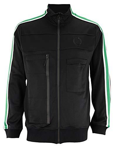 FISLL NBA Men's Milano Interlock Full Zip Jacket, Boston Celtics Large