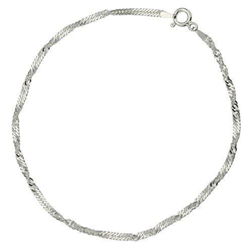 Bijoux pour tous BRS-K41094 - Tobillera de plata de ley sin gema