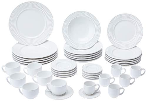 Porto Brasil Aparelho de Jantar com 42 Peças, Branco