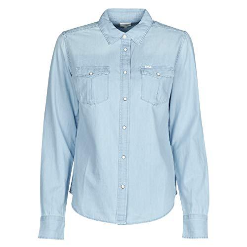 Lee Western Shirt Camisa, Azul (Summer Blue NJ), Medium para Mujer