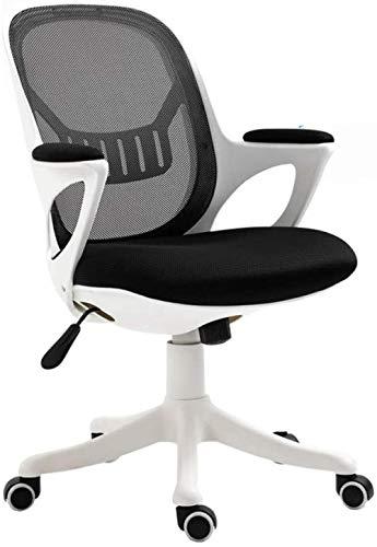 Computer Stoel Barkruk Kruk Ergonomische Bureaustoel Bureaustoel Mesh Ondersteuning Moderne Rollende Draaistoel voor (Zwart)