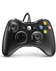 Xbox 360用有線コントローラー YAEYE ゲームコントローラー Xbox 360用 デュアルバイブレーションターボ付き Microsoft Xbox 360/360 Slim PC Windows 7/8/10用