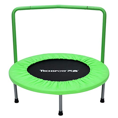 MOKY 36 Pulgadas de Mini trampolín Redondo de Seguridad Infantil Trampolín Cubierta con Apoyabrazos jardín de Infancia temprana educación física Durante la Primavera del trampolín (Verde