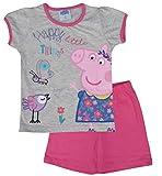 Peppa Pig Conjunto de pijama corto de algodón para niños