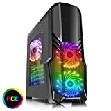 CiT G Force Mid-Tower RGB PC Gaming Case, ATX, Windowed