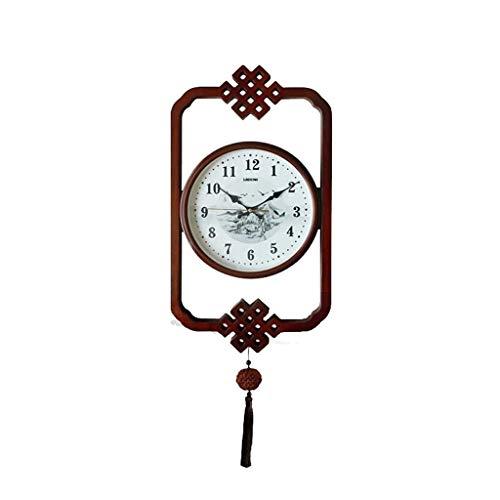 Zheyang relojes de pared para el hogar madera maciza colgante Zhong Shiying retro reloj de pared creativo salón mute escritorio