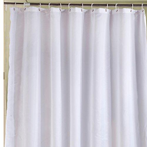 Rideaux de douche Rideau de douche épaississement partition rideau de toilette imperméable à l'eau moisissure rideau polyester rideau de douche en tissu blanc (L x H cm) Rideaux de douche de haute qualité