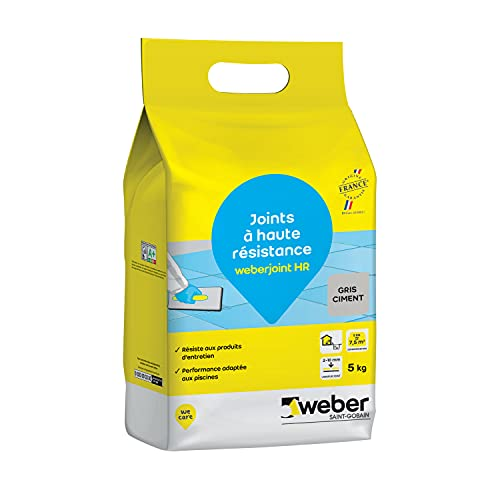 Weber 3388752184580 Mortero de juntas, gris cemento