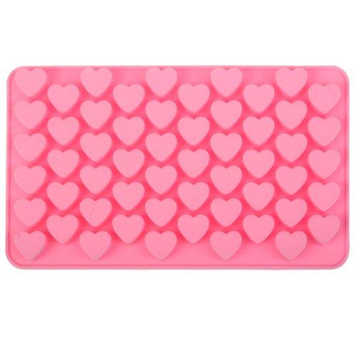 Molde de silicona con forma de corazón para hornear cubitos de hielo o bombones