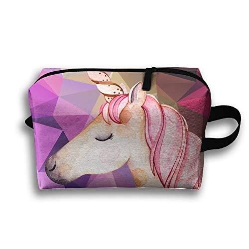 Grande trousse de toilette rose licorne pour voyage, trousse de toilette, trousse à crayons, sac de rangement multifonction