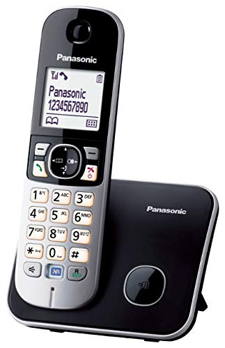 Panasonic KX-TG6811GB DECT-Schnurlostelefon, GAP Telefon, Festnetz, schwarz (Generalüberholt)