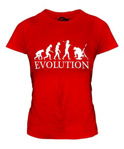 Candymix Mörser Geschütz Soldat Mörtel Evolution des Menschen Damen T Shirt, Größe Medium, Farbe Rot