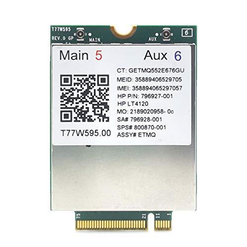 LT4120 Snapdragon X5 LTE T77W595 MÓDULO WWAN M2 4G Para HP Probook/EliteBook verde y plata
