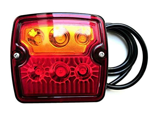 3 Funktionen LED Rückleuchte E9 12V 24V für Anhänger, LKWs, PKWs, Wohnmobile, Wohnwagen, Traktoren usw.