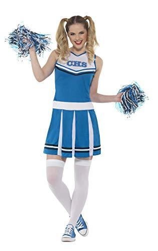 SMIFFYS CostumeCheerleader,Blu,conAbito PON, Colore, EU Dimensione 44-46, 47123L