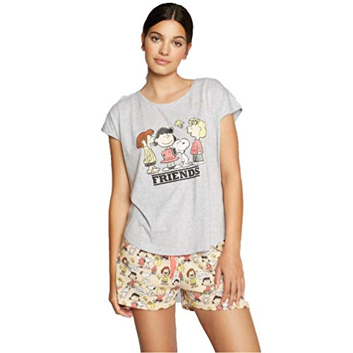 GISELA Pijama de Mujer de Snoopy 2/1790 - Gris Vigore, L